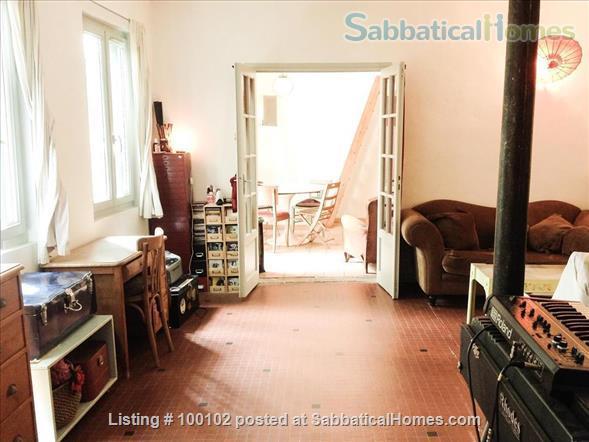Charming artist apartment overlooking a garden / loft,  60m2, Belleville / Canal  Home Rental in Paris, IDF, France 1