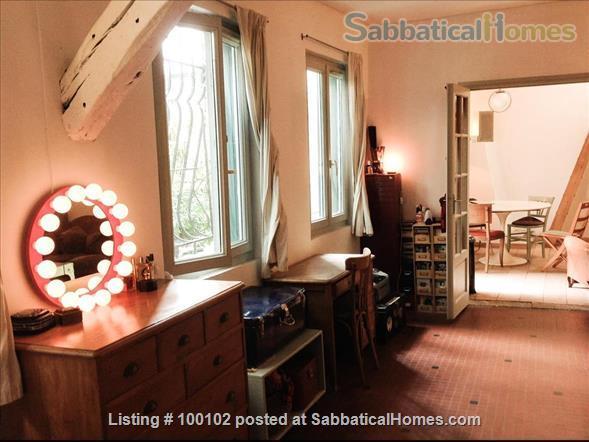 Charming artist apartment overlooking a garden / loft,  60m2, Belleville / Canal  Home Rental in Paris, IDF, France 0
