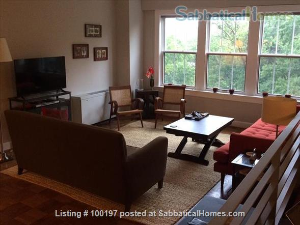 2BR Cathedral Heights furnished condo with indoor parking / tree top views / easy bus ride to downtown, Georgetown, AU Home Rental in Washington, District of Columbia, United States 1