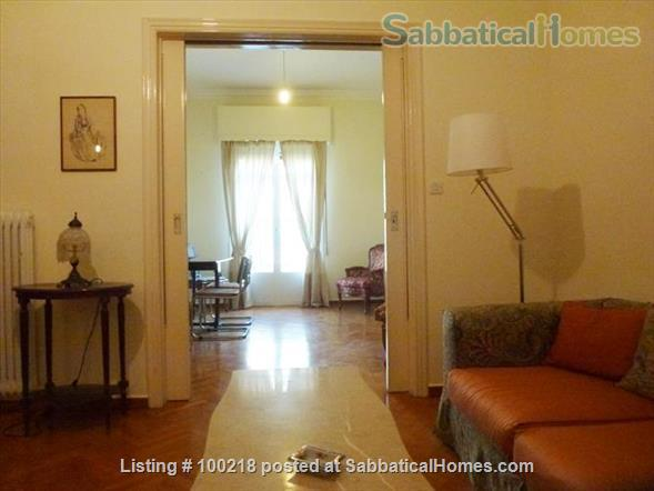 Two-bedroom flat in Athens with vintage furniture Home Rental in Athina, , Greece 1