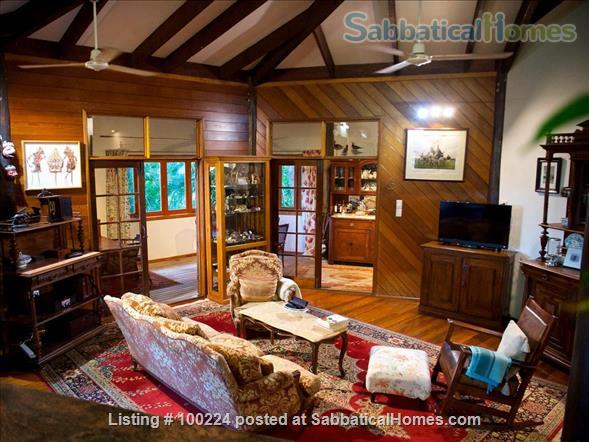 a rainforest pole home, backing onto the cassowary hills with views of the coral sea Home Rental in Killaloe, QLD, Australia 1