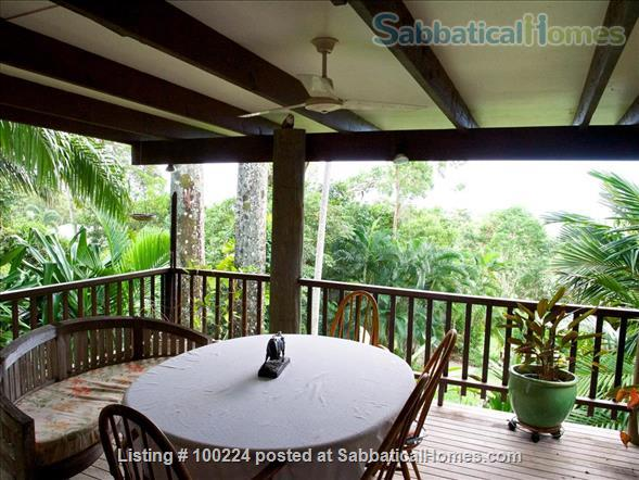 a rainforest pole home, backing onto the cassowary hills with views of the coral sea Home Rental in Killaloe, QLD, Australia 0