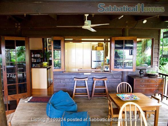 a rainforest pole home, backing onto the cassowary hills with views of the coral sea Home Rental in Killaloe, QLD, Australia 8