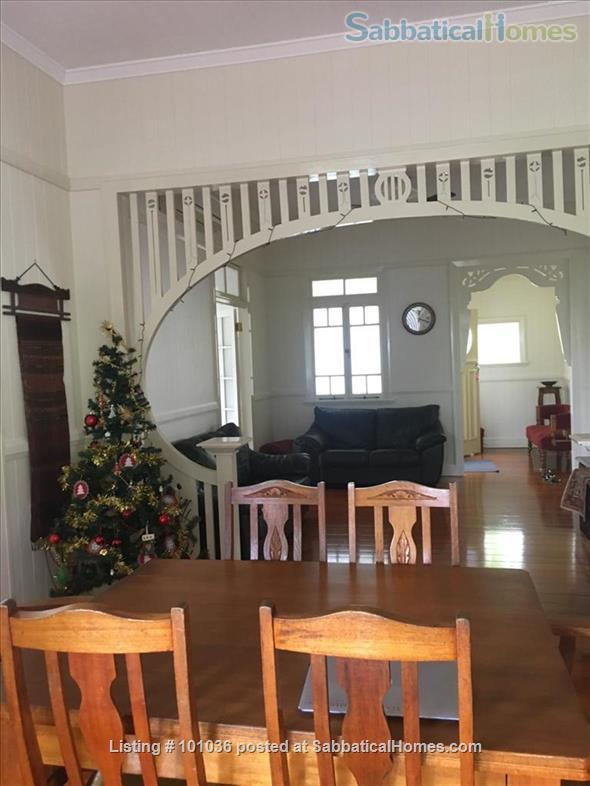 Brisbane - Beautiful fully furnished Traditional Queenslander home in quiet location, 4.5 kms from Centre of Brisbane City, short walk to Coorparoo junction buses, easy access to UQ, QUT, Mater and PA Home Rental in Coorparoo, QLD, Australia 0