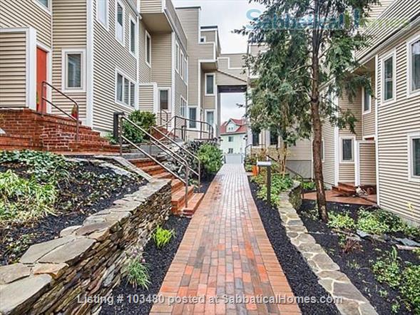 Harvard townhouse 3beds, 3bath, indoor parking, 3 patios, pool & jacuzzi Home Rental in Cambridge, Massachusetts, United States 1