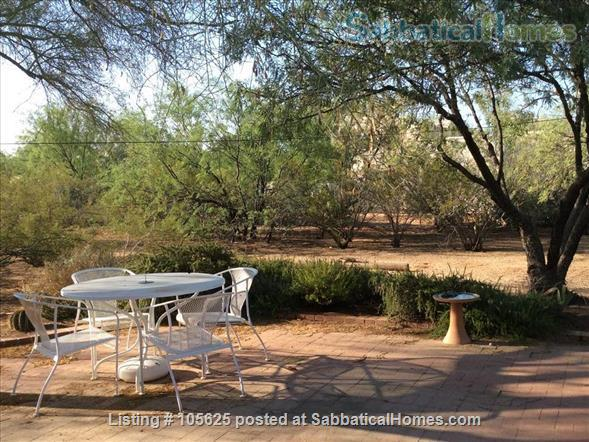 Rural Retreat 3 miles from Campus:  Furnished 4 BR, 3 Bath, Study, 1 Acre in Richland Heights West  Home Rental in Tucson, Arizona, United States 2