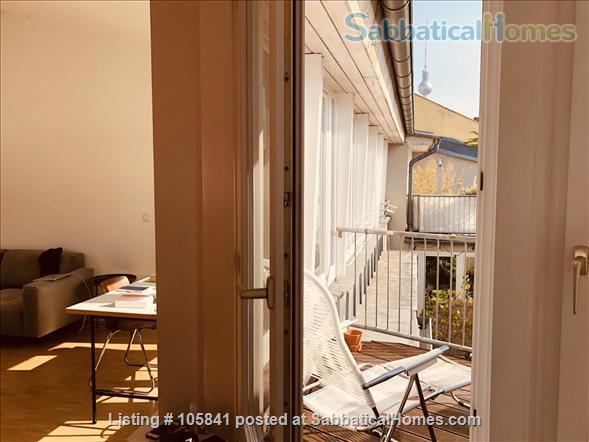 Beautiful and quiet penthouse in Berlin Mitte Home Rental in Berlin, Berlin, Germany 5