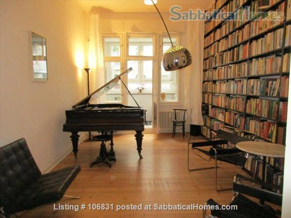Elegant Art Nouveau flat with grand piano and large library - 3 rooms Home Rental in Berlin, Berlin, Germany 1