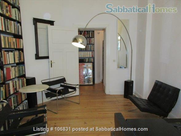 Elegant Art Nouveau flat with grand piano and large library - 3 rooms Home Rental in Berlin, Berlin, Germany 4