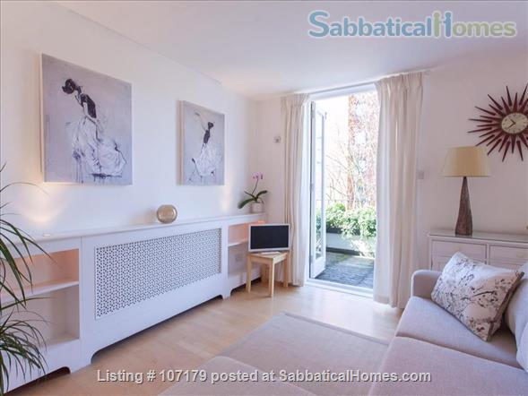 Two bedroom, two bathroom apartment to rent in London's fashionable Chelsea neighborhood.  Option to pay rent in dollars. Home Rental in London, England, United Kingdom 9