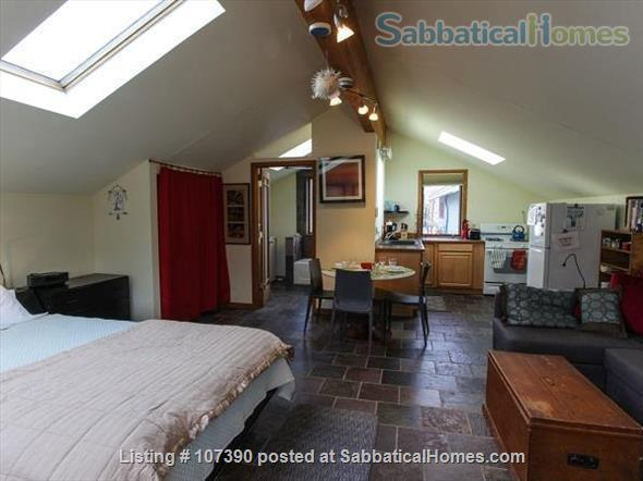 Quiet, furnished private carriage house studio apt. w/flexible start  & stop date Home Rental in Ann Arbor, Michigan, United States 3