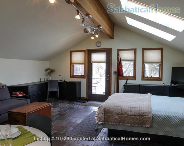 Quiet, furnished private carriage house studio apt. w/flexible start  & stop date Home Rental in Ann Arbor, Michigan, United States 4