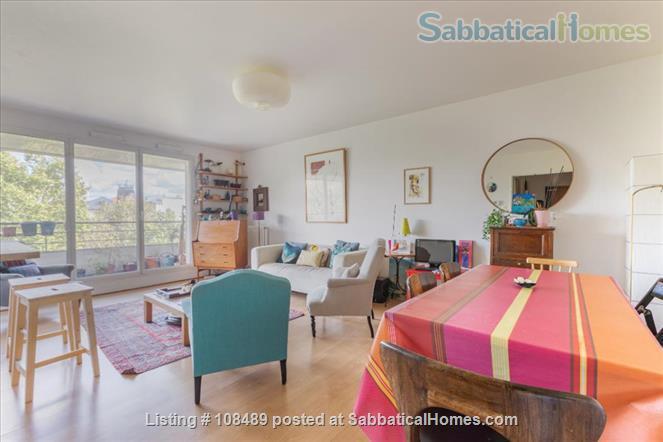PARIS  - Quiet & spacious apartment ( 1100 sq ft) 5 rooms + terrace Home Rental in Paris, Île-de-France, France 0