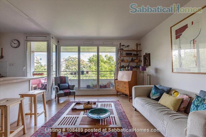 PARIS  - Quiet & spacious apartment ( 1100 sq ft) 5 rooms + terrace Home Rental in Paris, Île-de-France, France 3