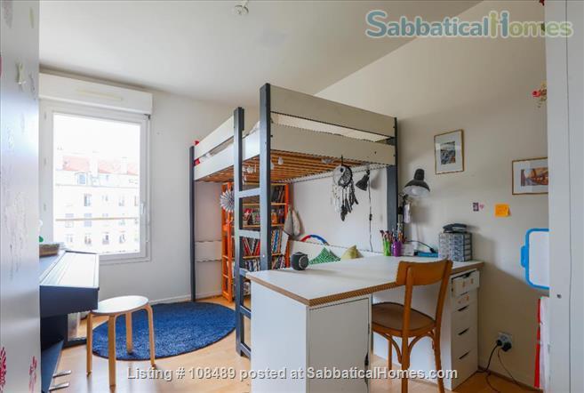 PARIS  - Quiet & spacious apartment ( 1100 sq ft) 5 rooms + terrace Home Rental in Paris, Île-de-France, France 6