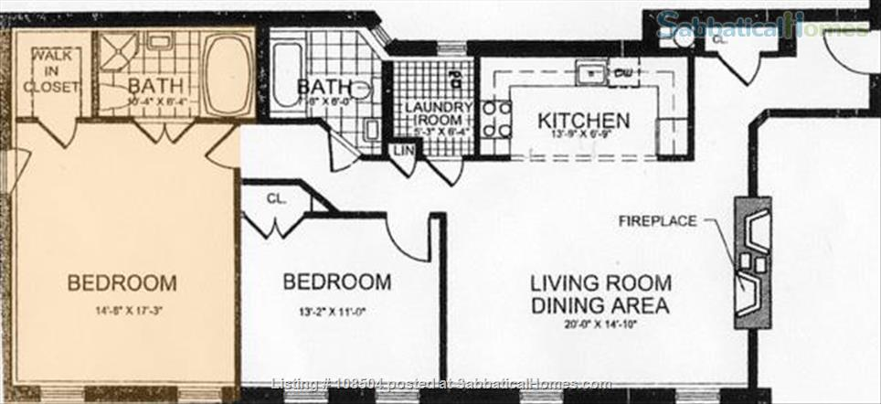 1300ft2 - 2BR/2BATH*LAUNDRY IN UNIT*FIREPLACE*JACUZZI*COLUMBIA  Home Rental in New York, New York, United States 9