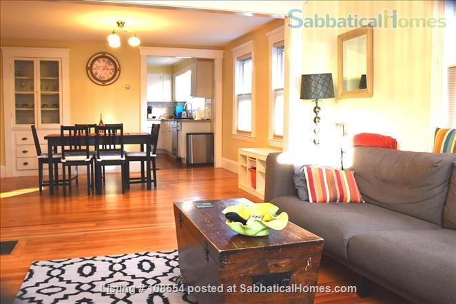 Spacious, quiet 2+BR 1.5BA furnished West Cambridge condo. Garden, parking, AC, WD, internet/TV, pets considered Home Rental in Cambridge, Massachusetts, United States 1