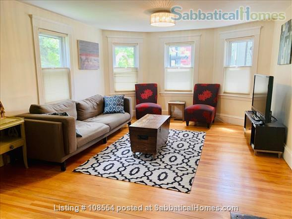Spacious, quiet 2+BR 1.5BA furnished West Cambridge condo. Garden, parking, AC, WD, internet/TV, pets considered Home Rental in Cambridge, Massachusetts, United States 0
