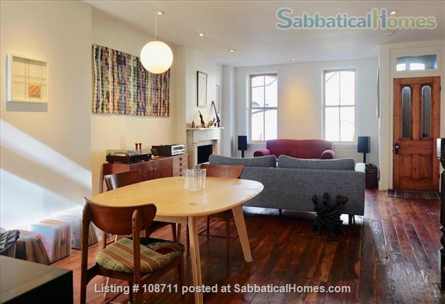 Architect-designed 2br rowhouse on charming Saint Albans street  Home Rental in Philadelphia, Pennsylvania, United States 0