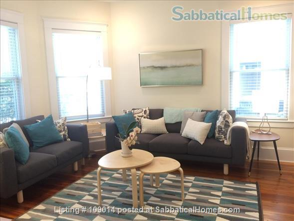 Spacious 2 BR 2BA w/deck on quiet street, steps to Harvard, shops & restaurants. Short or long term.     Home Rental in Cambridge, Massachusetts, United States 0