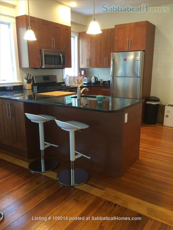 Spacious 2 BR 2BA w/deck on quiet street, steps to Harvard, shops & restaurants. Short or long term.     Home Rental in Cambridge, Massachusetts, United States 2