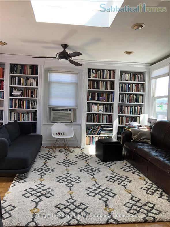Sunny, furnished 2 Bed/1 bath  Condo with private deck, parking,  10 min. walk to Harvard/MIT  for July 1 to August 31, 2021 Home Rental in Cambridge, Massachusetts, United States 1