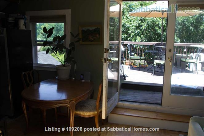 Sunny, furnished 2 Bed/1 bath  Condo with private deck, parking,  10 min. walk to Harvard/MIT  for July 1 to August 31, 2021 Home Rental in Cambridge, Massachusetts, United States 3