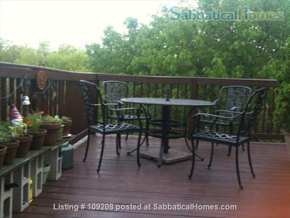 Sunny, furnished 2 Bed/1 bath  Condo with private deck, parking,  10 min. walk to Harvard/MIT  for July 1 to August 31, 2021 Home Rental in Cambridge, Massachusetts, United States 4
