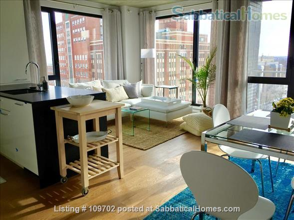 Medical trainees contact for price. Downtown Montreal! Executive furnished condo-Pool gym heated car and bike parking Steps to Atwater Metro Home Rental in Montreal, Quebec, Canada 1