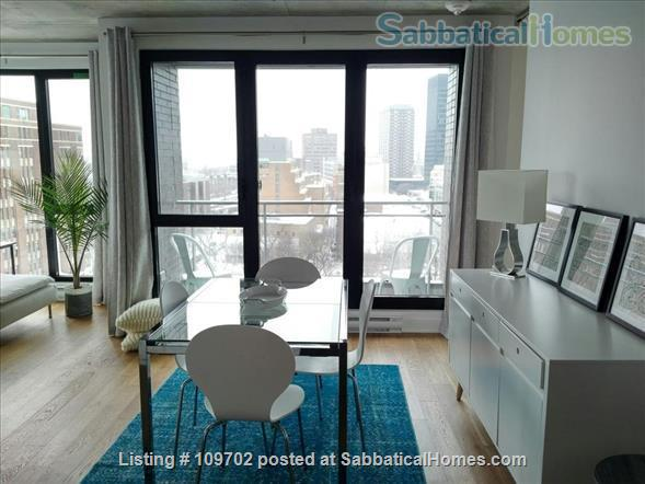 Medical trainees contact for price. Downtown Montreal! Executive furnished condo-Pool gym heated car and bike parking Steps to Atwater Metro Home Rental in Montreal, Quebec, Canada 0