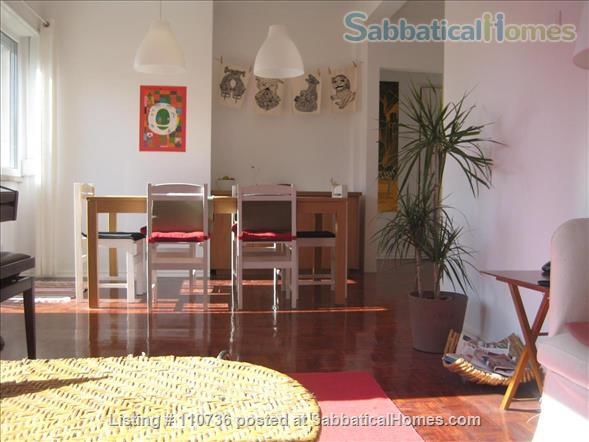 On a quiet, tree-lined street, fifth floor apartment with 2 bedrooms, 1 living-room, lots of sunshine, 3 balconies. Home Rental in Lisbon, Lisboa, Portugal 0
