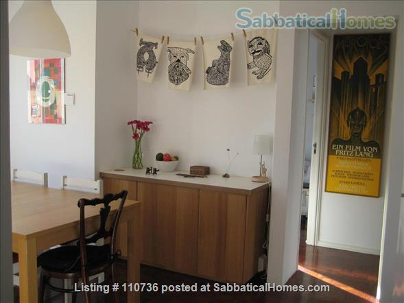 On a quiet, tree-lined street, fifth floor apartment with 2 bedrooms, 1 living-room, lots of sunshine, 3 balconies. Home Rental in Lisbon, Lisboa, Portugal 2