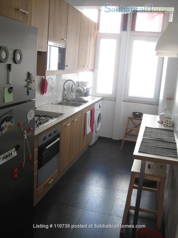 On a quiet, tree-lined street, fifth floor apartment with 2 bedrooms, 1 living-room, lots of sunshine, 3 balconies. Home Rental in Lisboa, Lisboa, Portugal 3