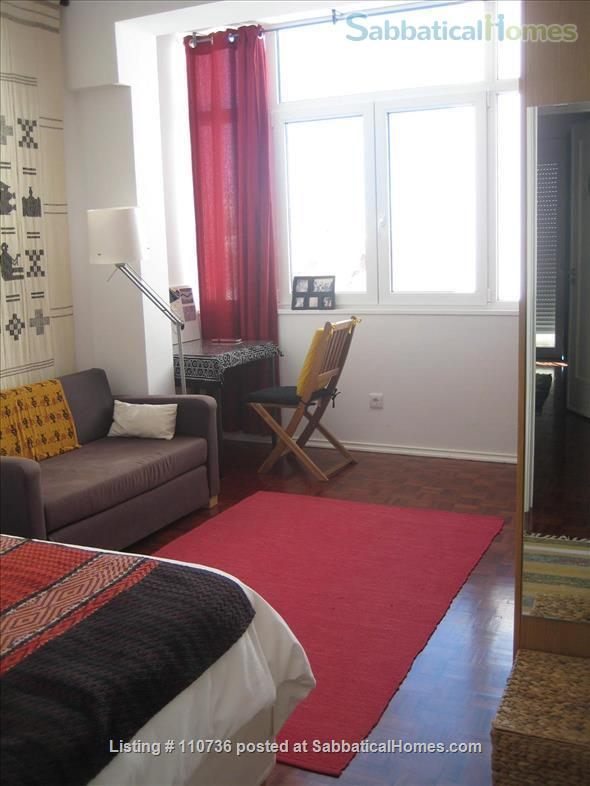 On a quiet, tree-lined street, fifth floor apartment with 2 bedrooms, 1 living-room, lots of sunshine, 3 balconies. Home Rental in Lisbon, Lisboa, Portugal 8
