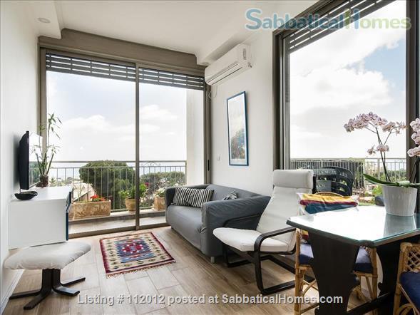 Haifa - Horev Center - Exquisite Beautiful Roof-top APT Sea View + Balcony Home Rental in Haifa, Haifa District, Israel 1