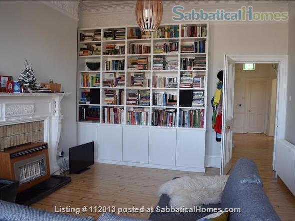 Beautiful, light-filled two bedroom Victorian tenement flat walking distance to university Home Rental in Edinburgh, Scotland, United Kingdom 1