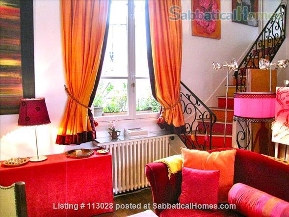 LUMINOUS   ARTIST'S   LOFT -  R o m a n t i c  -  C e n t r a l : walk to Eiffel Tower & Museums. Nestled between two gardens (2 bedrooms, 2 full bathrooms).  ONLY AVAILABLE UNFURNISHED. Also available to purchase. Home Rental in Paris, Île-de-France, France 1