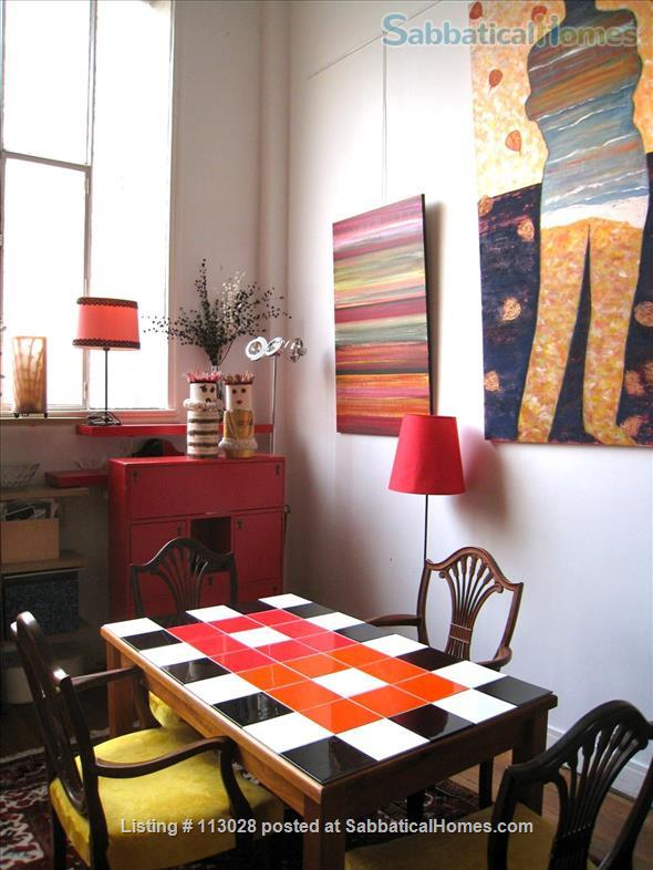LUMINOUS   ARTIST'S   LOFT -  R o m a n t i c  -  C e n t r a l : walk to Eiffel Tower & Museums. Nestled between two gardens (2 bedrooms, 2 full bathrooms).  ONLY AVAILABLE UNFURNISHED. Also available to purchase. Home Rental in Paris, Île-de-France, France 2