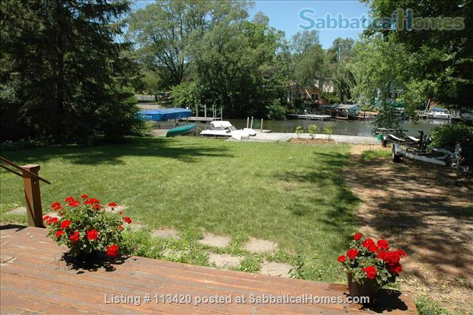 On Lake Mendota, near campus, 3BR, 2-bath, garage. Large dock and deck! Home Rental in Madison, Wisconsin, United States 0