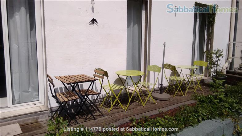 Flat 2 beds 60m2 with garden and terrace Home Rental in Paris, Île-de-France, France 2