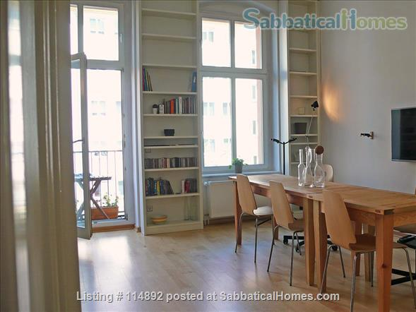Desgin Apt in Mitte Premium Location 2 Rooms bright, silent 2 Balconies, with a big working table Home Rental in Berlin, Berlin, Germany 1