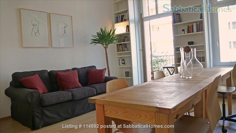 Desgin Apt in Mitte Premium Location 2 Rooms bright, silent 2 Balconies, with a big working table Home Rental in Berlin, Berlin, Germany 0