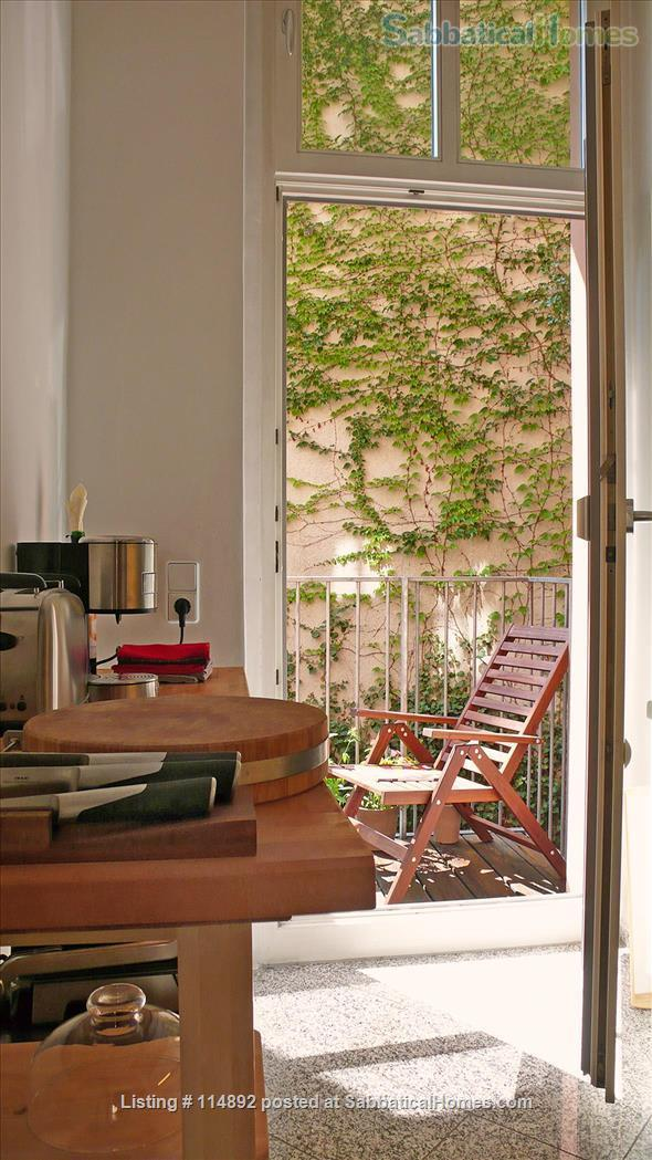 Desgin Apt in Mitte Premium Location 2 Rooms bright, silent 2 Balconies, with a big working table Home Rental in Berlin, Berlin, Germany 2