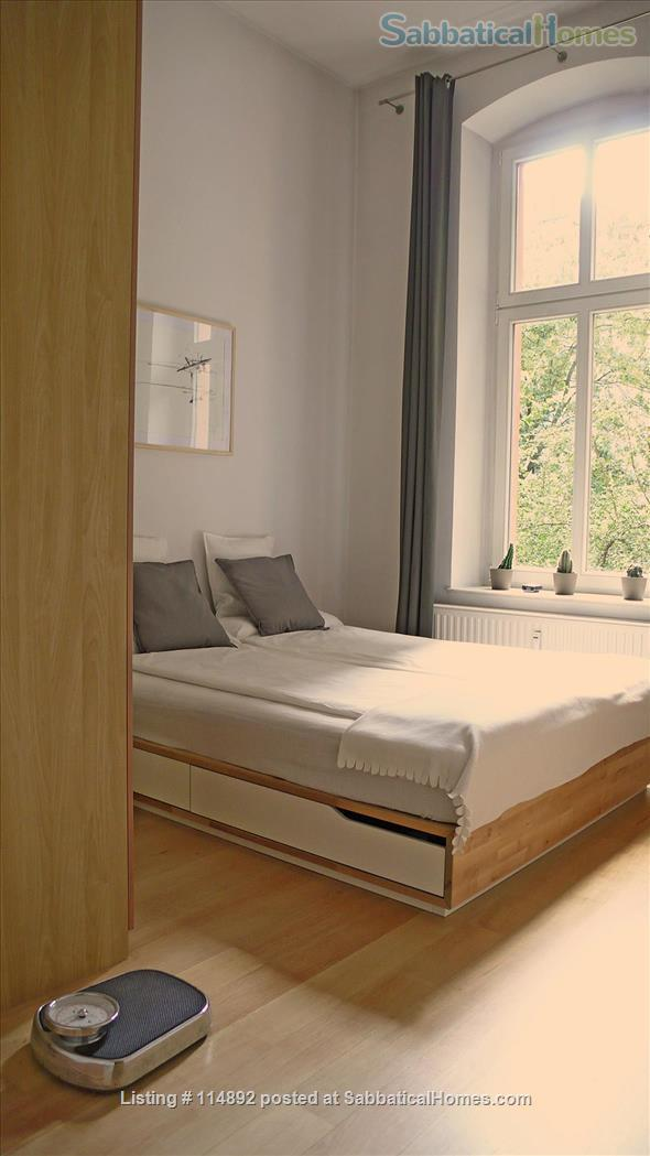 Desgin Apt in Mitte Premium Location 2 Rooms bright, silent 2 Balconies, with a big working table Home Rental in Berlin, Berlin, Germany 3