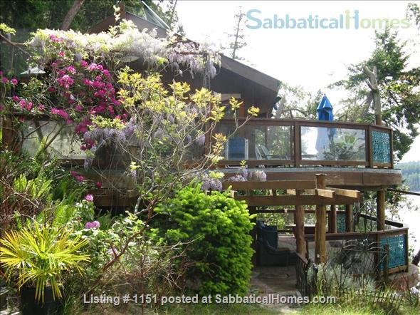 Kingfisher Cove,  Oceanfront Cottage in Southern Gulf Islands,  next to National/Marine Park, with dock & deep water moorage,  40 MIN ferry to Swartz Bay/Victoria +20 mins to UVic; or ferry/float plane to Vancouver/UBC Home Rental in Pender Island, British Columbia, Canada 7