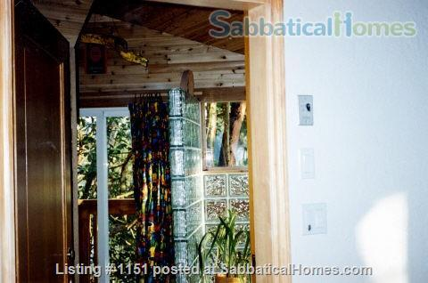 Kingfisher Cove,  Oceanfront Cottage in Southern Gulf Islands,  next to National/Marine Park, with dock & deep water moorage,  40 MIN ferry to Swartz Bay/Victoria +20 mins to UVic; or ferry/float plane to Vancouver/UBC Home Rental in Pender Island, British Columbia, Canada 5