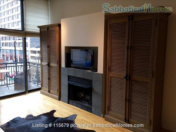 Stylish 1-bedroom Loft Beautifully Furnished for Rent in Printers Row Home Rental in Chicago, Illinois, United States 1