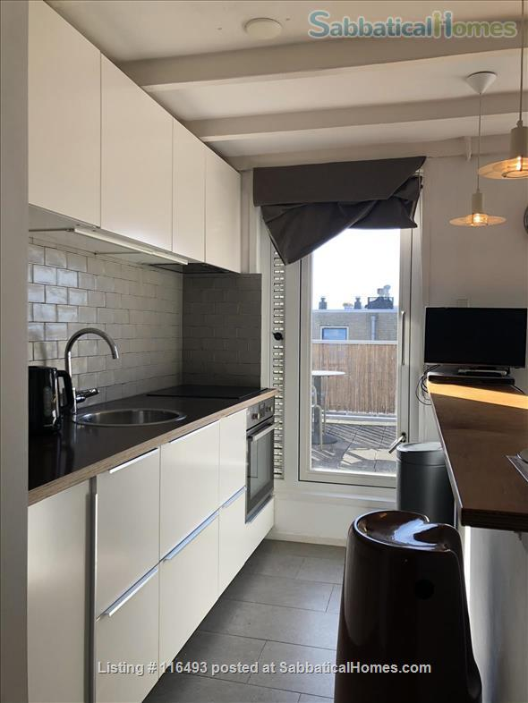 Light Top Floor Apartment with Roof Terrace Home Rental in Amsterdam, Noord-Holland, Netherlands 1