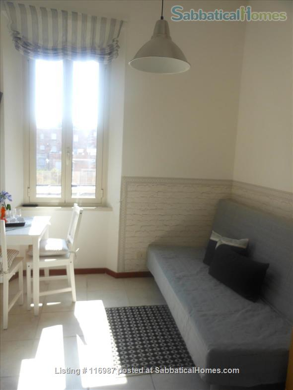 Bright, quiet and well connected studio apartment  Home Rental in Rome, Lazio, Italy 4
