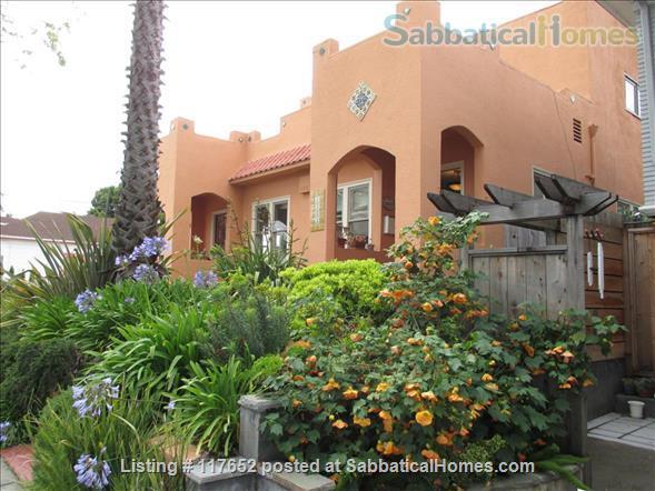 2 bd/2 bath sunny, updated duplex w/lush yard & large deck, walk everywhere Home Rental in Berkeley, California, United States 0